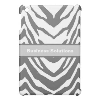 Customized Gray & White Zebra Ipad Case