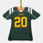 Customized Green/Gold Football Jersey 20 V1 Ornament