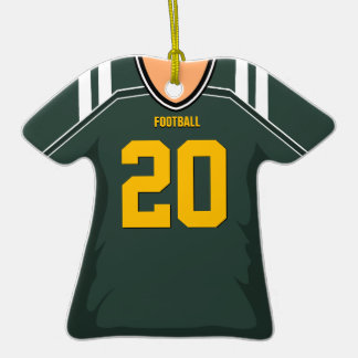 Customized Green/Gold Football Jersey 20 V1 Ornament