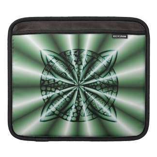 Customized Green Metallic Celtic Knot Sleeves For iPads