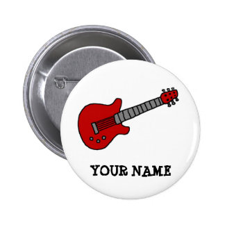 Customized Guitar Shirt for Boys or Girls 2 Inch Round Button