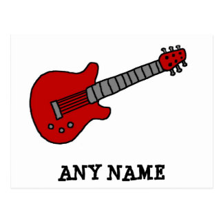 Customized Guitar Shirt for Boys or Girls Postcard
