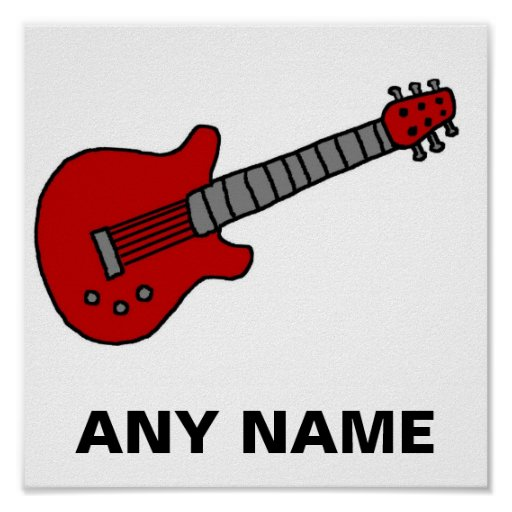 Customized Guitar Shirt for Boys or Girls Poster