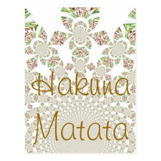 Customized hakuna matata Postcard l Template -