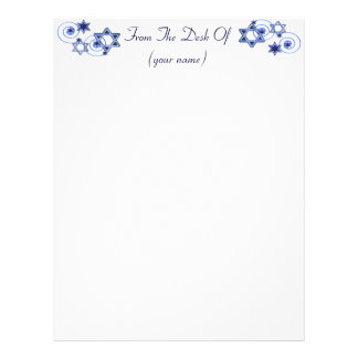 Customized Hanukkah Letterhead