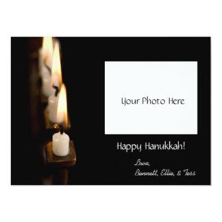 Customized Hanukkah Menorah w/ Photo Card