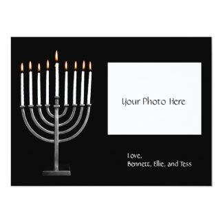 Customized Hanukkah Menorah w/ Photo Card