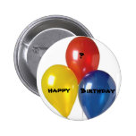 Customized  HAPPY, ?, Birthday Button