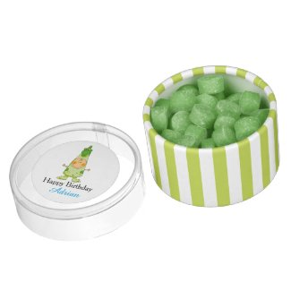 Customized happy birthday funny dragon kid party chewing gum favors