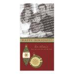 Customized Happy Holidays Ornament Design :: 08 Custom Photo Card