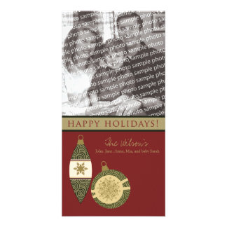 Customized Happy Holidays Ornament Design :: 08 Custom Photo Card