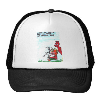 Customized Hat with funny church signs