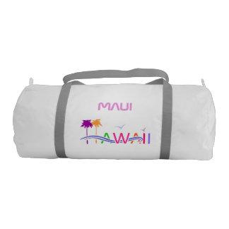 Customized Hawaii Island Illustration Duffle Bag