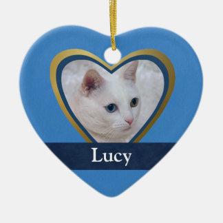 Customized Heart-Shape Frame for a Pet Photo Christmas Tree Ornaments