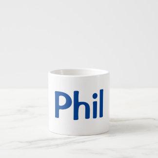 Customized His Name on Espresso Mug