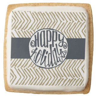 Customized Holiday | Square Shortbread Cookie