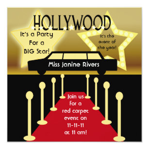 Hollywood Invitations Announcements Zazzle
