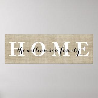 Customized Home Family Name Print