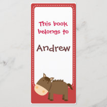 Customized*Horse Bookmarks Book