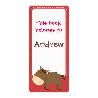 Customized*Horse Bookmarks Book Rack Card