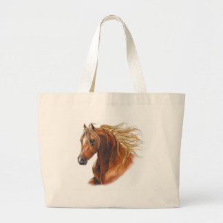 Customized Horse Invitations and Cards Large Tote Bag