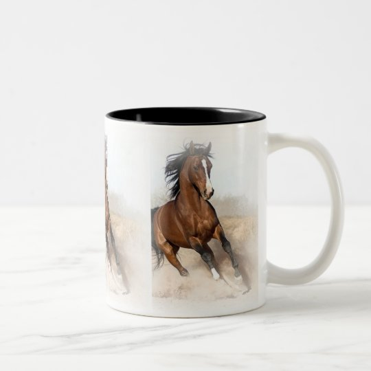 Customized Horse Invitations and Cards Two-Tone Coffee Mug