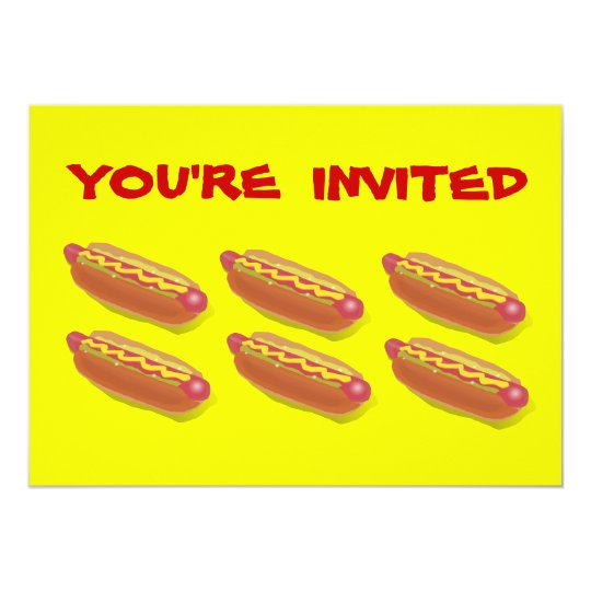 Customized Hot Dog Eating Contest  or BBQ invites