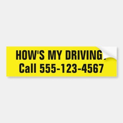 Customized How Is My Driving Bumper Sticker Zazzle Com