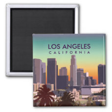 Customized Image of Downtown L.A. California Magnet