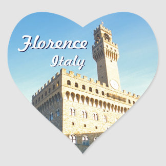 Customized Image of Palazzo Vecchio Heart Sticker
