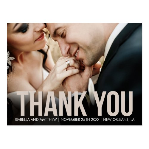 Customized Image Templates  Beige Thank You Postcard