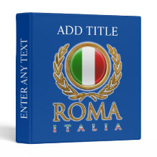 Customized Italian Flag 3 Ring Binder
