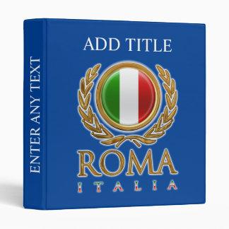 Customized Italian Flag 3 Ring Binder