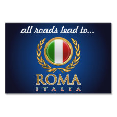 Customized Italian Flag Lawn Sign