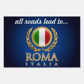 Customized Italian Flag Lawn Sign
