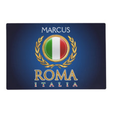 Customized Italian Flag Placemat