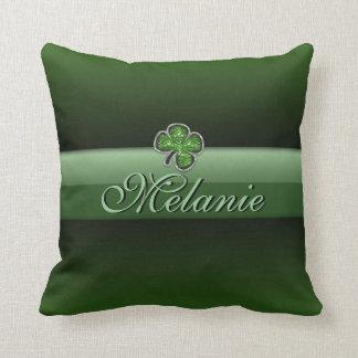 Customized Jewel Shamrock Pillow