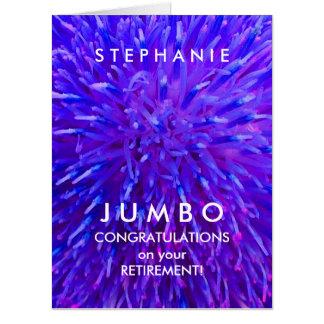 Customized JUMBO Purple Abstract Retirement Card