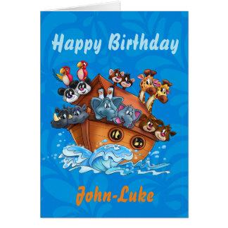 Customized Kids birthday cartoon card