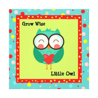 Customized kids Owl Quoted Canvas