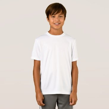 Beach Themed Customized Kids Sport-Tek Performance Fitted T-Shirt