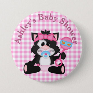 Customized Kitten Baby Shower Button