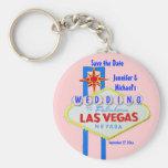 Customized Las Vegas Wedding Sign Key Chain
