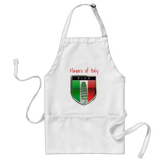 Customized Leaning Tower of Pisa and Italian Flag Adult Apron