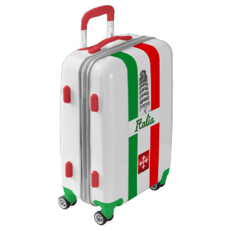 Customized Leaning Tower of Pisa and Italian Flag Luggage