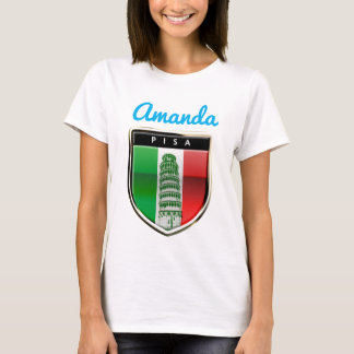 Customized Leaning Tower of Pisa and Pisan Cross T-Shirt