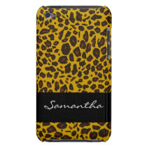 Customized Leopard Animal Print iPod Touch Case