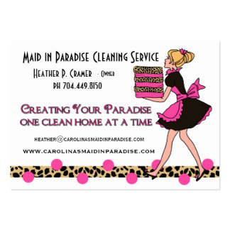 Customized Leopard Print Cleaning Service Large Business Cards (Pack Of 100)