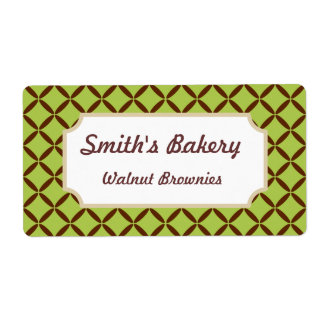 Customized Lime Pattern Business Labels