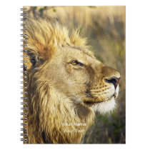 Customized Lion Head Wildcat African Wildlife Notebook